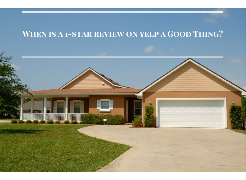 When is a 1-Star Review on Yelp a Good Thing?